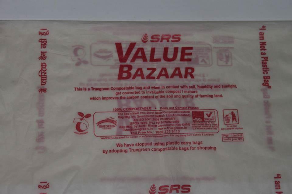 Green-The-Gene-Value bazaar-Compostable-shopping-bag