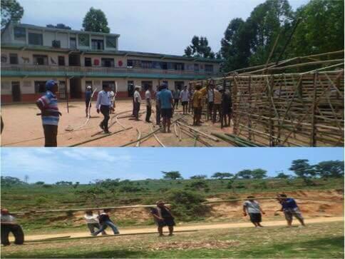 locals constructing school