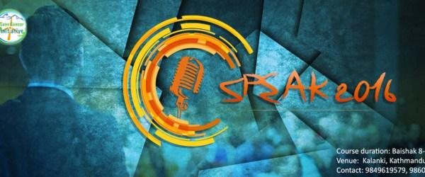 Registration Open for Speak
