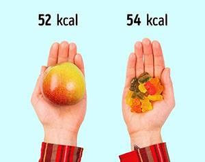 1 ябълка = 1 шепа желирани мечета