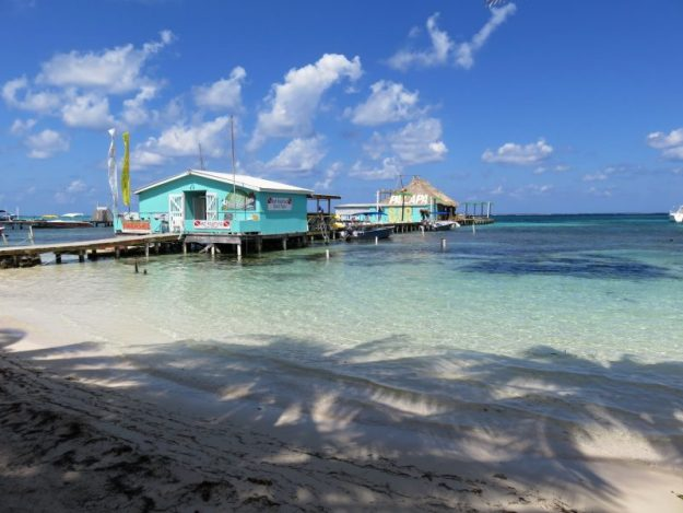 The new location for Palapa Bar, Boca Del Rio, San Pedro, Belize