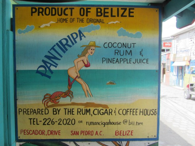 Pantirippa Sign at Rum, Cigar & Coffee House - Belize Food Tours