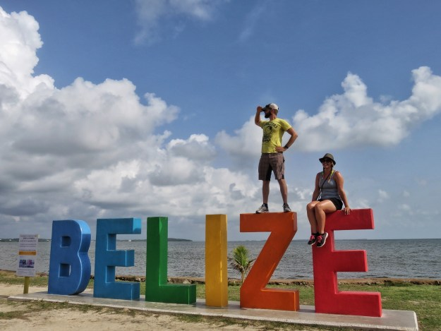 The Belize Sign in Belize City