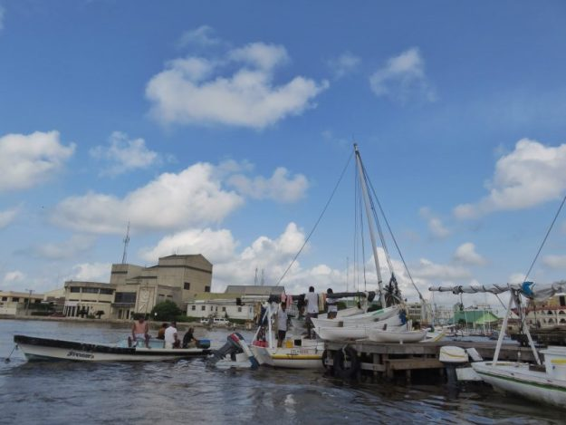 Lobster boats Belize City