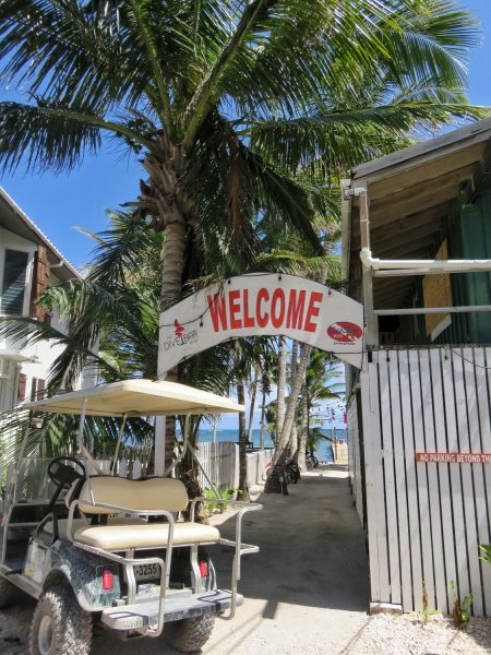 Dive Shop Entrance Ambergris Caye Belize
