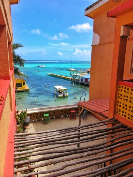 View from the Spindrift Hotel San Pedro Belize