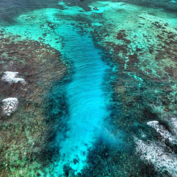 Hol Chan Marine Reserve cut in the Reef, Ambergris Caye, Belize