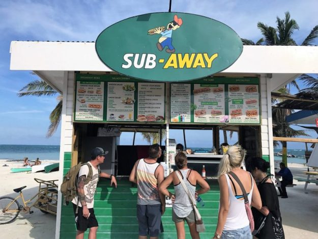 "The new ""Sub-Away"" on Caye Caulker"