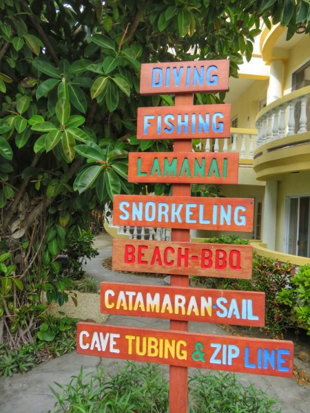 Some of the activities offered by Pelican Reef Villas, 3 miles south, Ambergris Caye