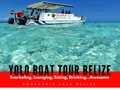 LOVE this boat tour off Ambergris Caye for Snorkeling Hol Chan Marine Reserve, swimming with sharks and just GORGEOUS swimming. Full Service on YOLO Belize.