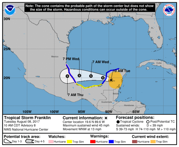Most recent update from NHC