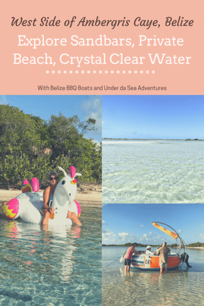Explore the West side of Ambergris Caye on your own private tour - to see the sandbars and the private beaches of Belize.