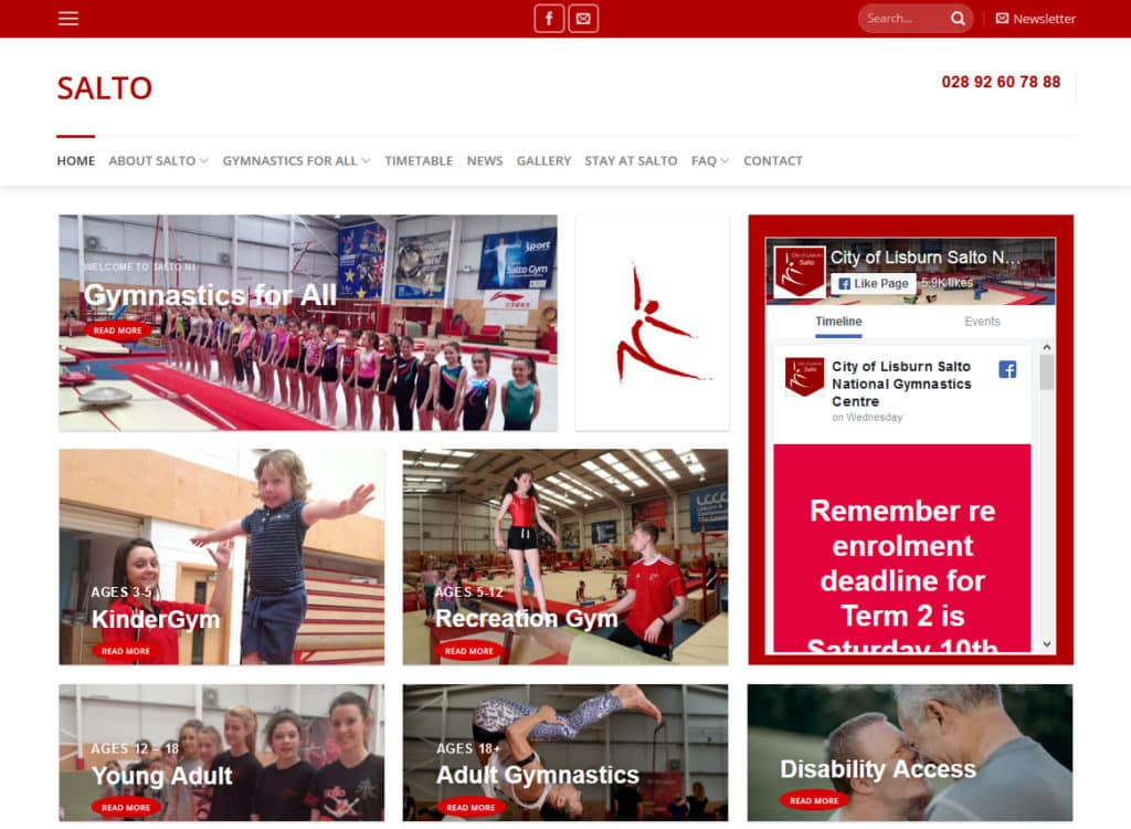 Salto Gymnastics website
