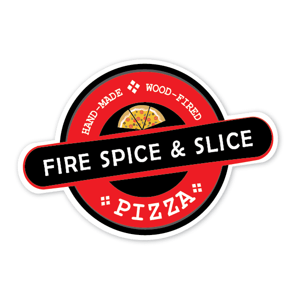 Fire spice and slice logo