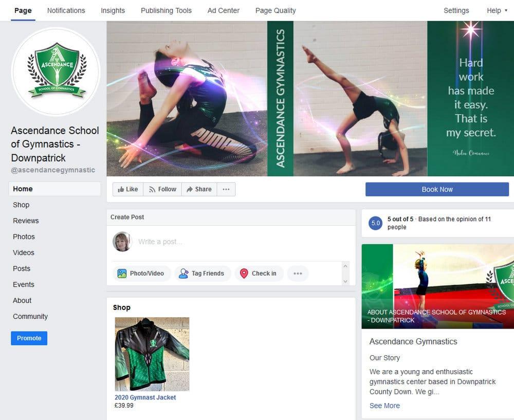 Ascendance Gymnastics Facebook page