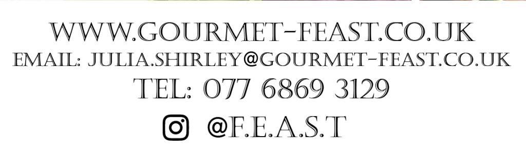 Gourmet Feast centre bar, pop-up banner