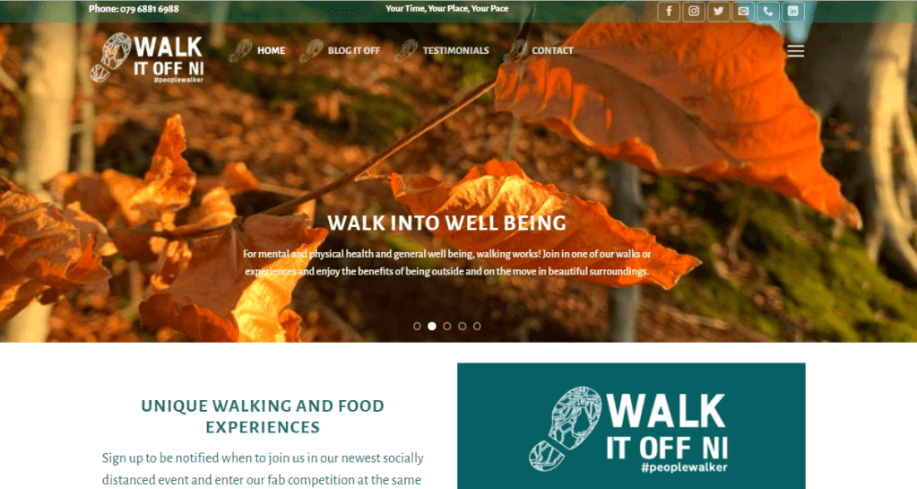 Walk it off NI website
