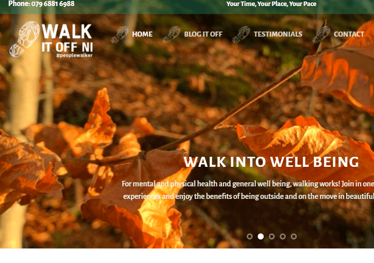 Walk it off NI website