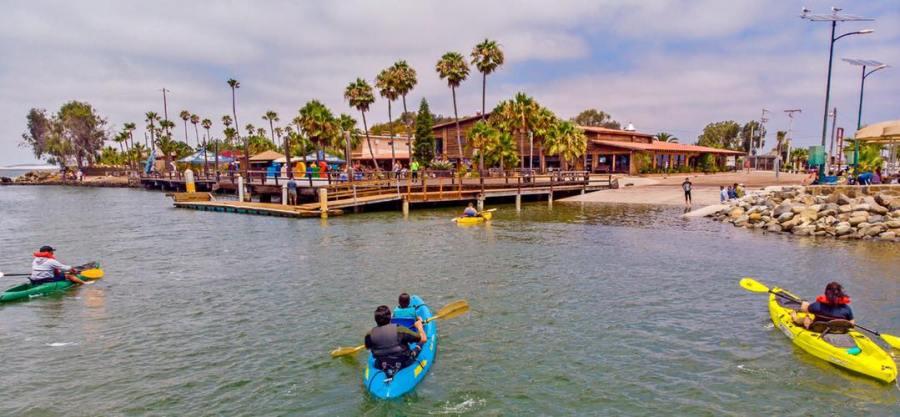 Kayaking at Old Mill in San Quintin, Baja California Mexico