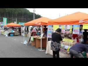 7月5日(日)「第3回さんさん朝市」ラジオ体操の風景!