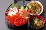 【豊楽食堂】今年もやってまいりましたイクラの季節!鮭の親子に志津川ダコのタッグを楽しんで下さい。¥1,800