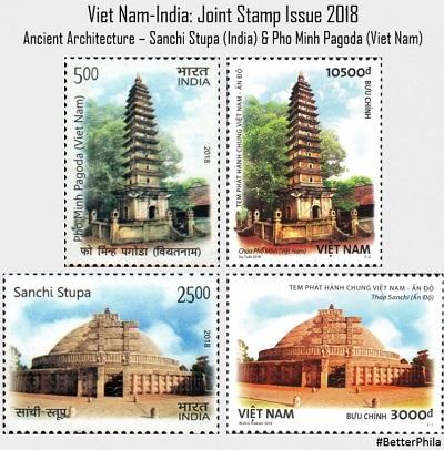 stamp Sanchi Stupa _Pho Minh Pagoda