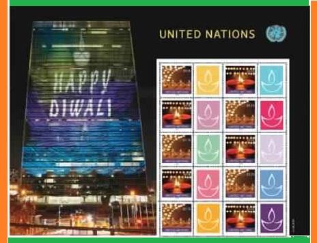 United Nations Postal System diwali ticket