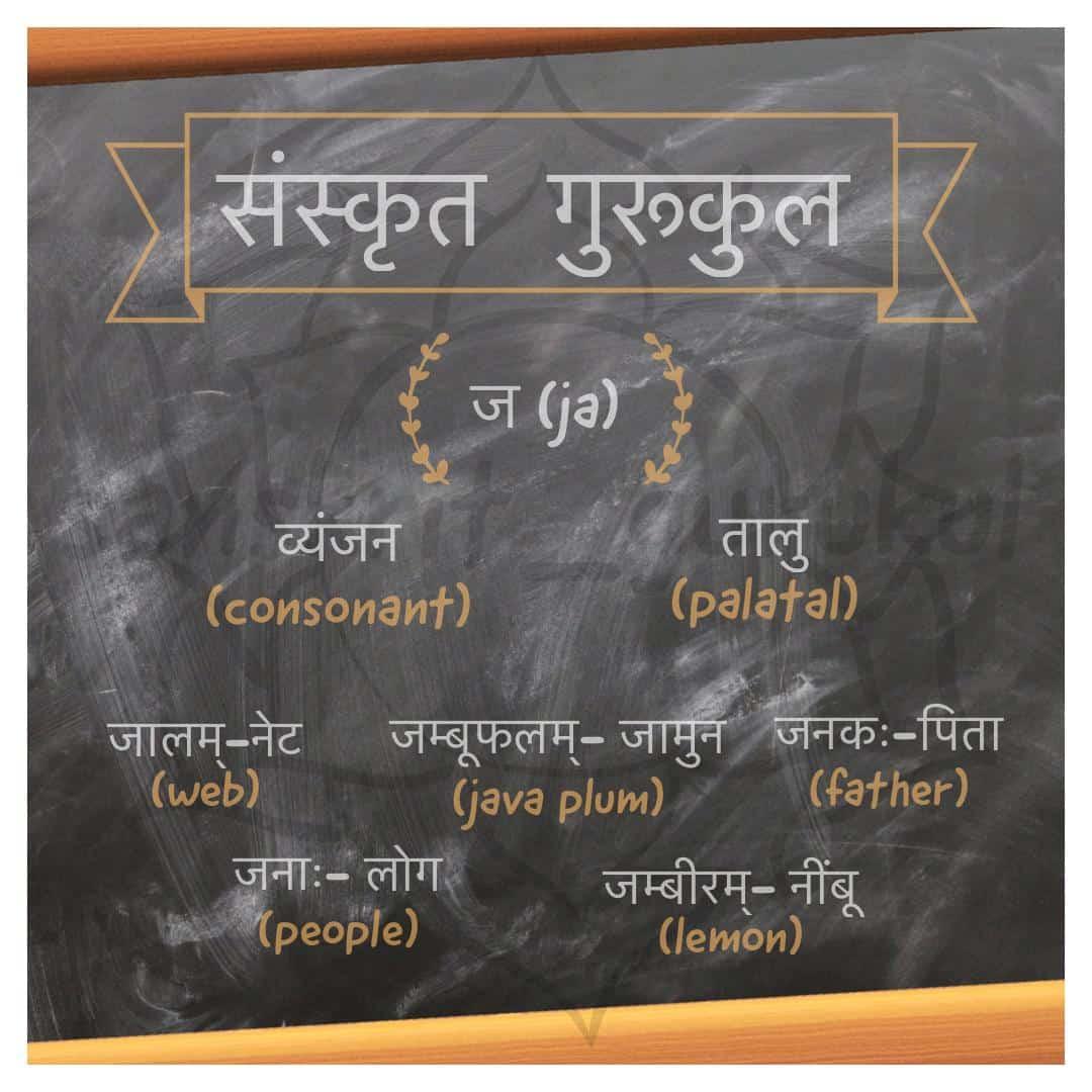 Sanskrit consonant ज (ja)