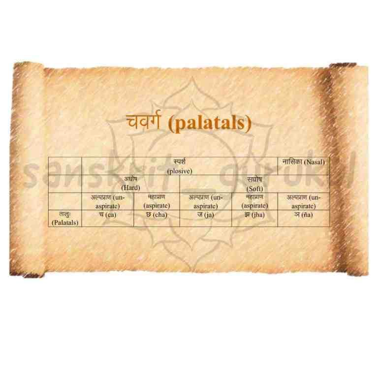 palatal sanskrit consonant