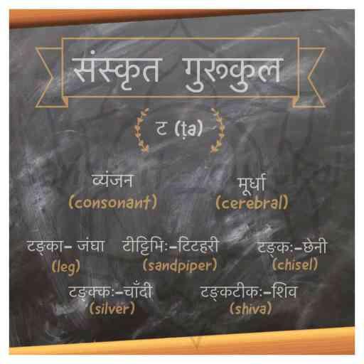 ta Sanskrit Alphabet cerebral टवर्ग (cerebral)