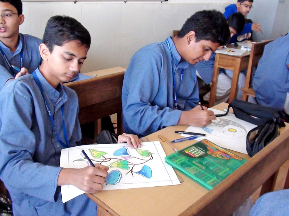 Drawing session