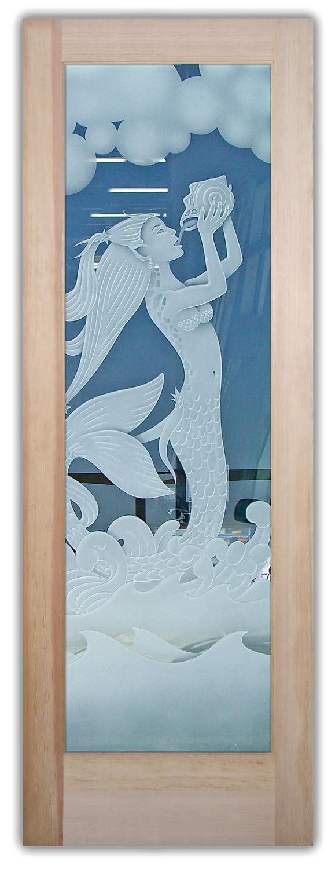 Mermaid 3D Etched Glass Doors Sans Soucie Art Glass