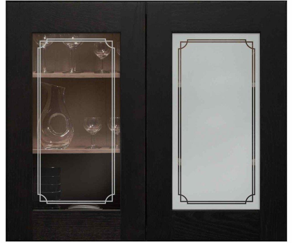 Concave Overap Border Cabinet Glass Sans Soucie Art Glass