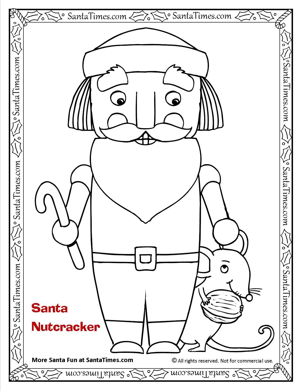 Nutcracker Santa Printable Coloring Page