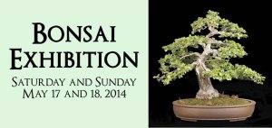 Bonsai Exhibition - Saturday and Sunday May 17 and 18, 2014