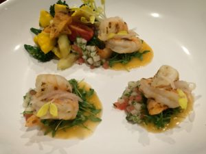 Citrus Grilled Shrimp and Cantaloupe Gazpacho
