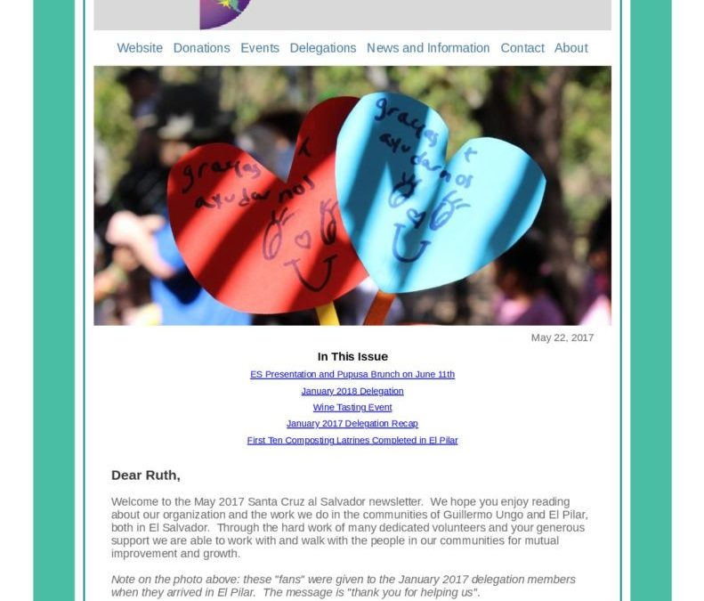 May 2017 Newsletter