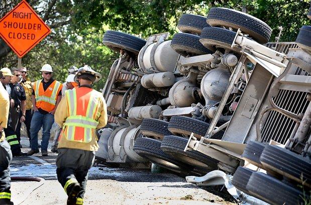 Traffic delay | Big rig driver injured by rollover near Fishhook