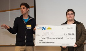 The $4,000 top prize went to the Imprint team of Mark Adams and Brian Vallelunga. (Photo credit: Michael Riepe)