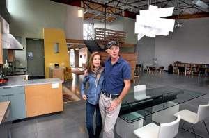 Diana Holm and Sanford Bingham, owners of document security company FileOpen, are moving into a large, live/work space in the newly opened Delaware Addition, bringing part of their business with them. (Photo credit: Dan Coyro)