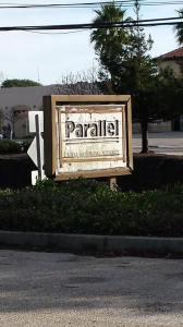 Parallel Computer's sign at 3004 Mission St, uncovered in 2014 during renovation of the building for Pacific Collegiate School. (credit Ruth Updegraff)