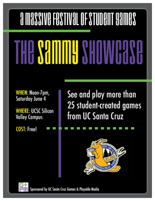 The Sammy Showcase is a massive festival of student games