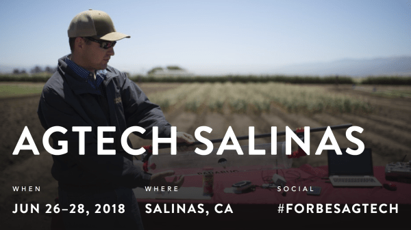 Speaker lineup announced for 4th annual Forbes AgTech Summit