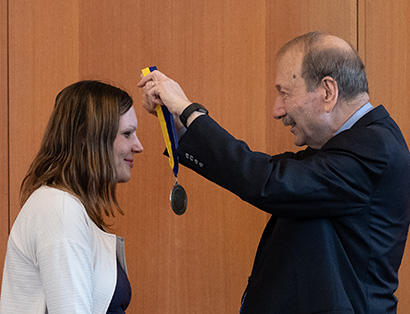 Ceremony honors inaugural holder of Colligan Presidential Chair in Pediatric Genomics