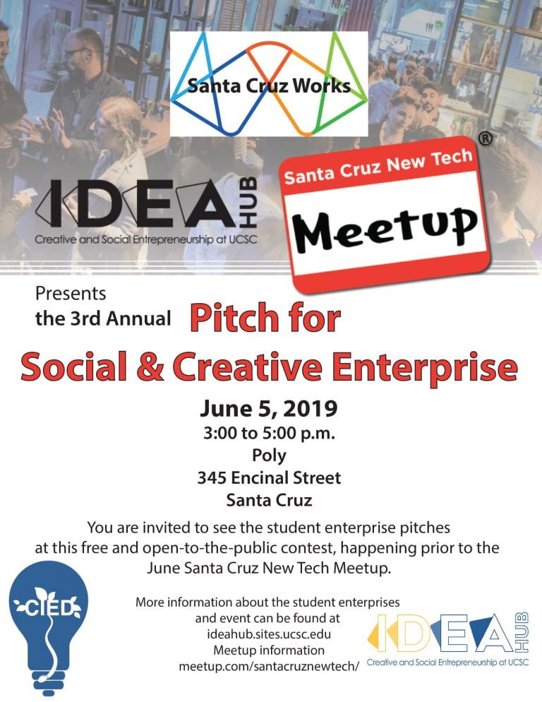 IDEA Hub 2019 Pitch for Social and Creative Enterprise to be