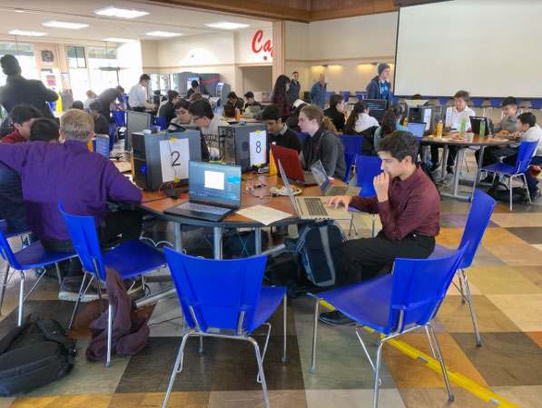 Students competing in cyber competition at Cabrillo College
