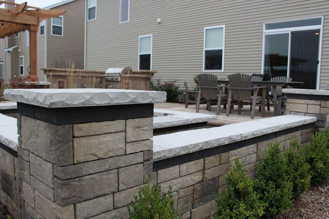 santafe brick concrete patio