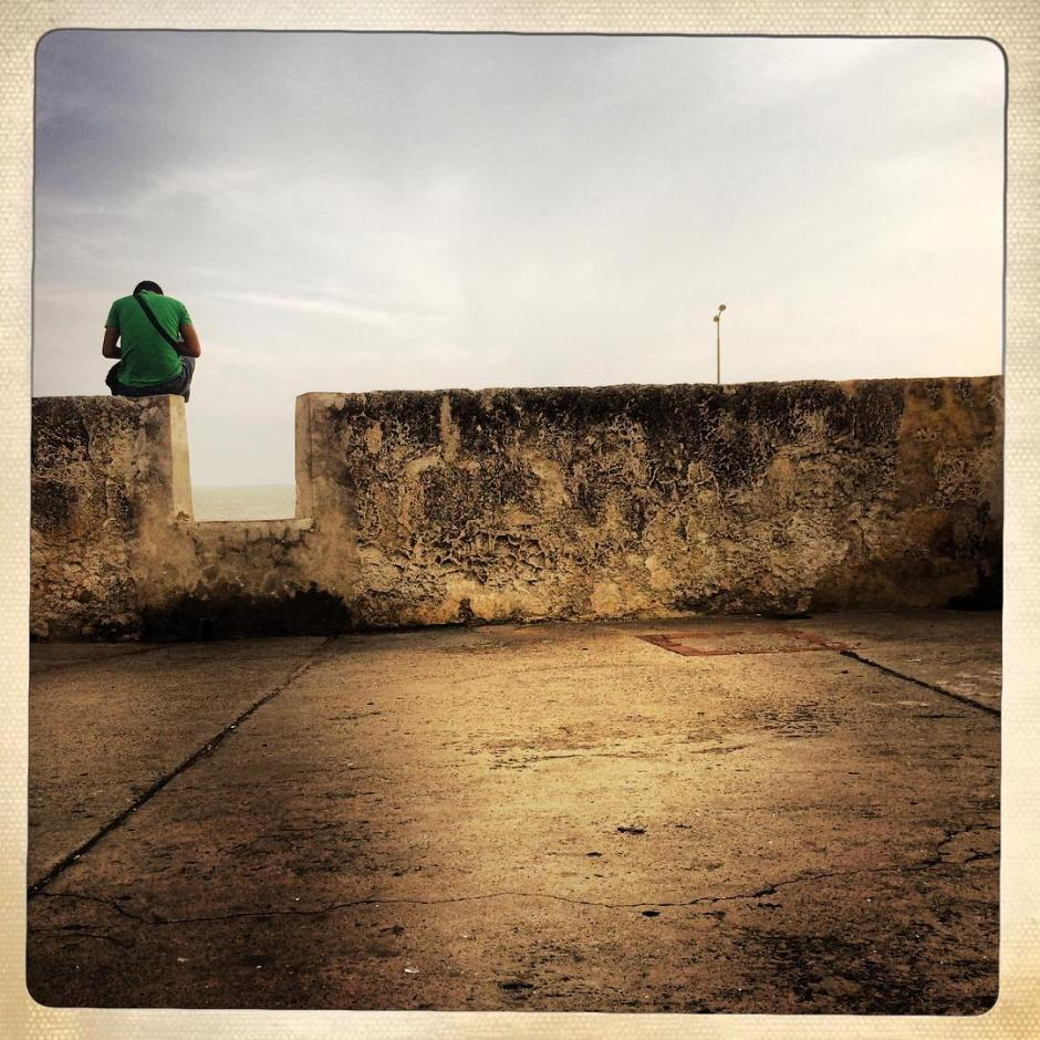 A great big wall. #latergram #cartagena #colombia