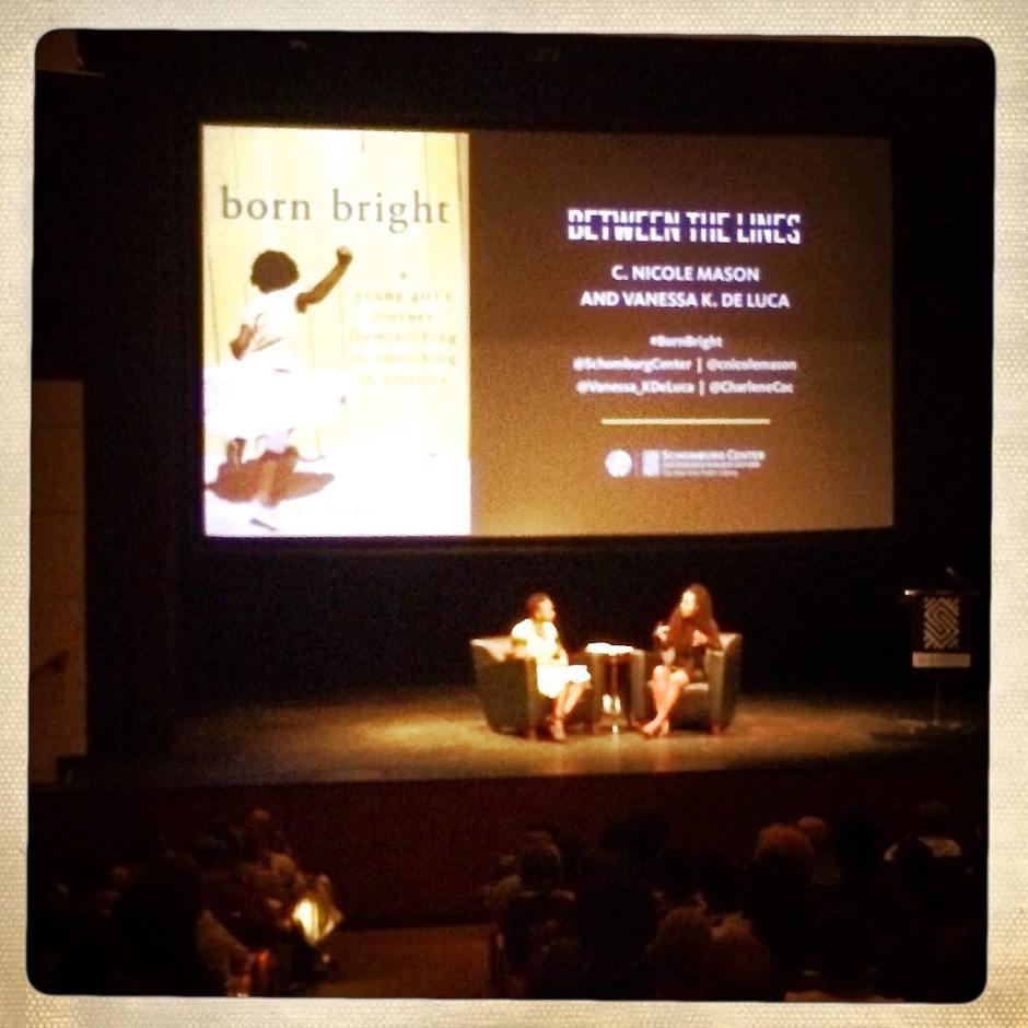 Watching my friend C. Nicole Mason speak on her book #BornBright at @schomburgcenter #bison #hu