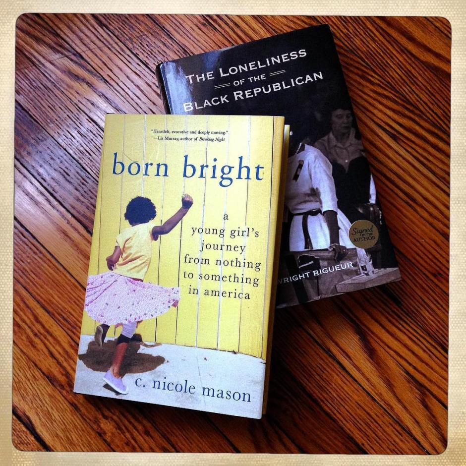 At last night's #BornBright @schomburglive event I picked up a little reading material for the road courtesy of @cnicolemason & @lwrightphd. #latebutnottoolate #igotmine #nowyougetyours